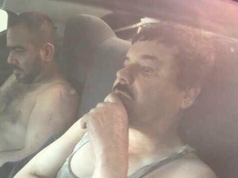 """La primera imagen de """"El Chapo"""" Guzmán difundida luego..."""