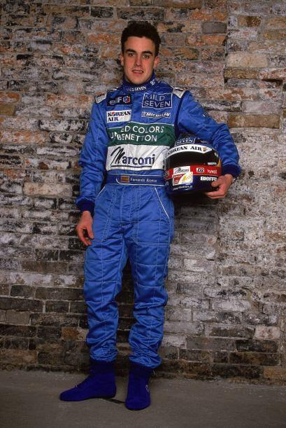 El español Fernando Alonso está celebrando su décimo aniversario en la F...