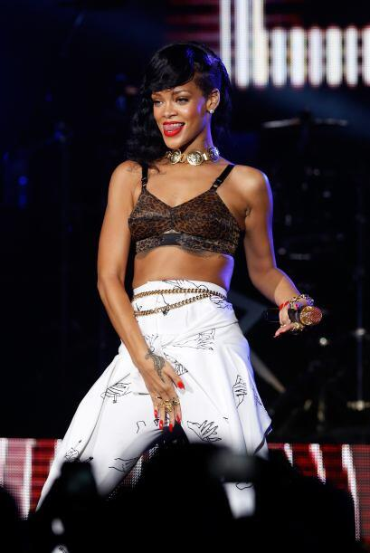 Rihanna brings the sexy and will heat up The Monster Tour alongside Eminem