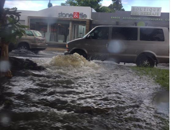 Tapones y caos en zona metro debido a lluvias