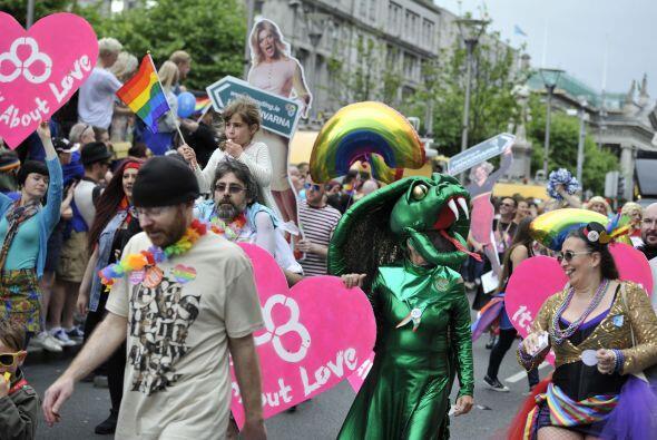 Así lucía la fiesta LGTB organizada en Dublín.