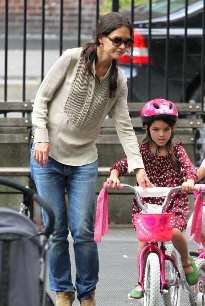 """Foto de cuando estuvo lista para andar como """"niña grande"""", claro, con ay..."""