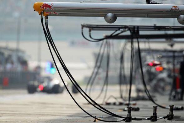Red Bull está presente en todos los aspectos del equipo de Fórmula 1.
