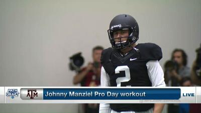 El Pro Day de Johnny Manziel