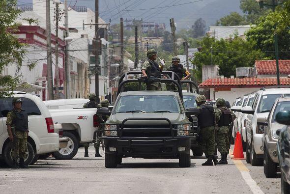 A pesar del despliegue policíaco y militar por parte del gobierno...