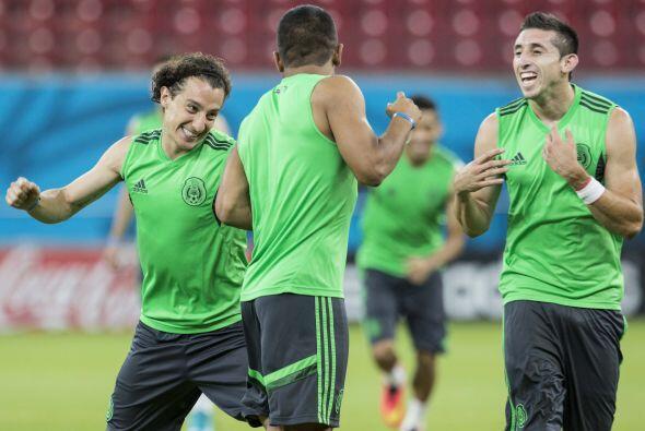 La selección mexicana pisó la cancah del Estadio Arena pernambuco, donde...