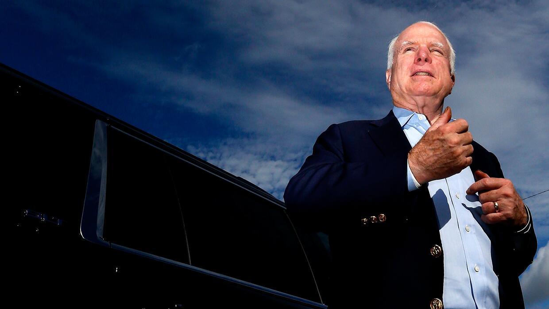 John McCain durante un evento político en Luisiana en 2014.