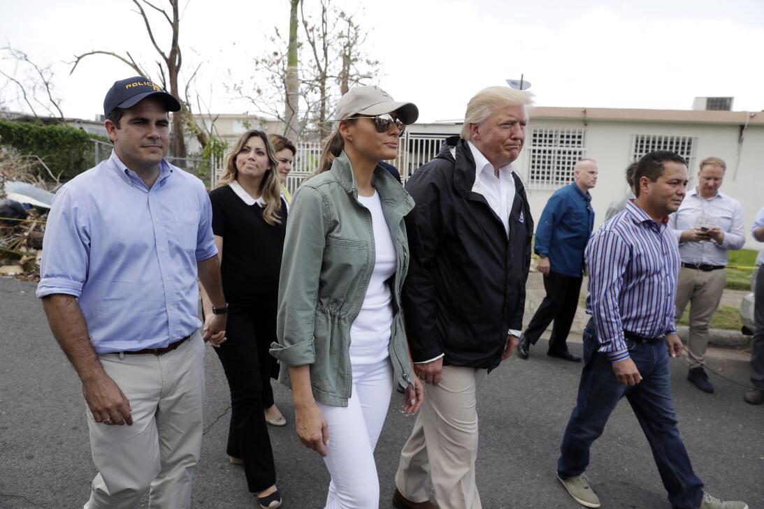 El presidente estadounidense Donald Trump llegó este martes a Puerto Ric...