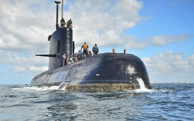 Esta foto sin fecha proporcionada por la Armada Argentina muestra al ARA...