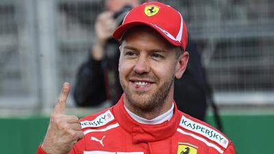 Sebastian Vettel fue más rápido que los Mercedes y saldrá primero en el GP de Azerbaiyán
