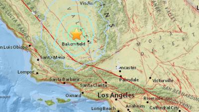 Un sismo de 4.9 sacude Bakersfield