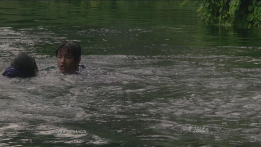 Mateito lo encontró flotando en el lago.