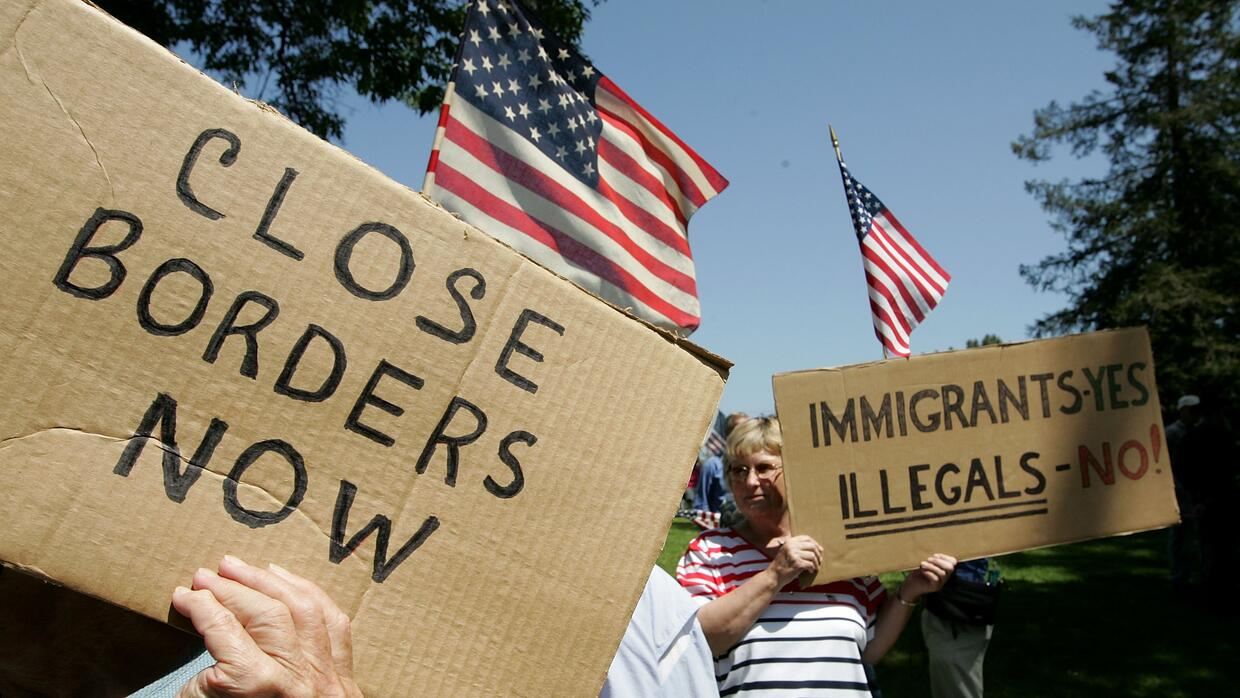 Anti-immigrant protest in California