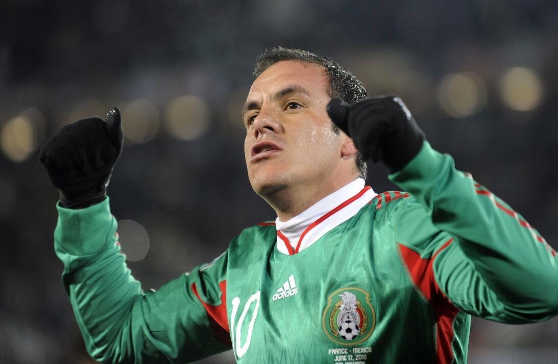 Cuauhtémoc Blanco (México) - 12 goles en 30 partidos durante cuatro elim...