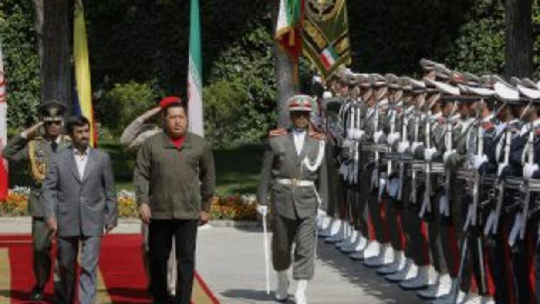 Hugo Chavez y Ahmadinejad