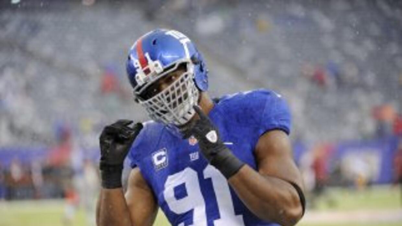 Justin Tuck tuvo un buen 2013 con los Giants (AP-NFL).