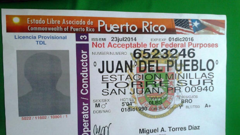 Licencia de conducir de Puerto Rico