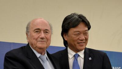 Blatter con Eduardo Li
