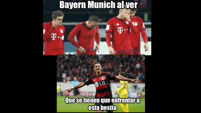 Memes del Chicharito ante Bayern Munich