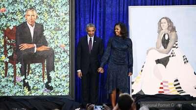 En fotos: Dos pintores afroamericanos inmortalizan los rostros de la Barack y Michelle Obama