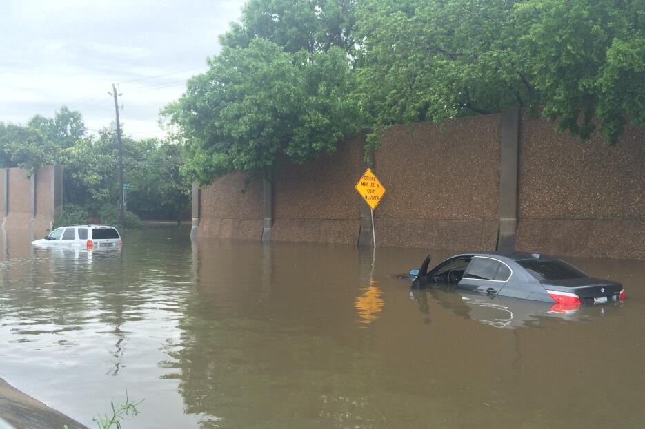 Uno de los sectores más afectados por las inundaciones es el vecindario...