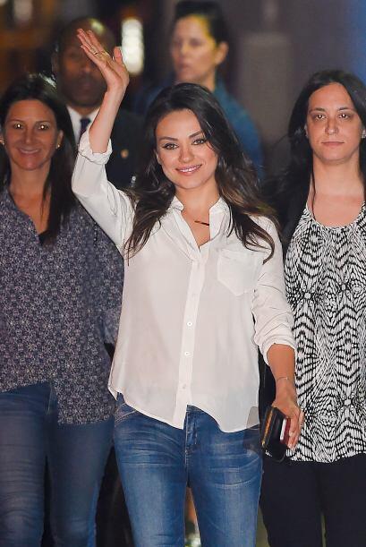 Así lo demostró la actriz Mila Kunis, quien dio a luz a su primera hija...