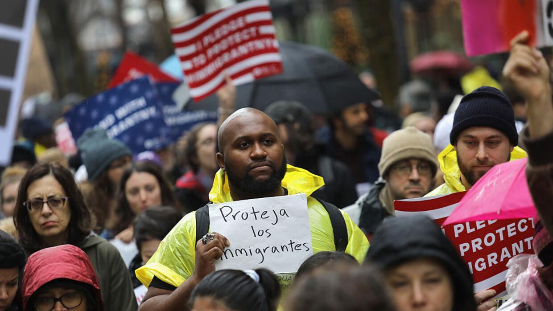 La marcha comenzó cerca de la sede de la ONU y llegó hasta...
