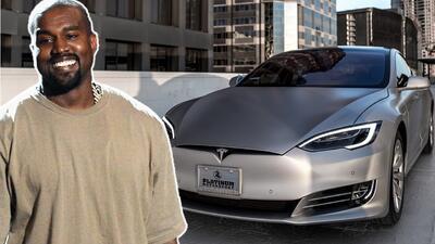 Kanye West y su Tesla