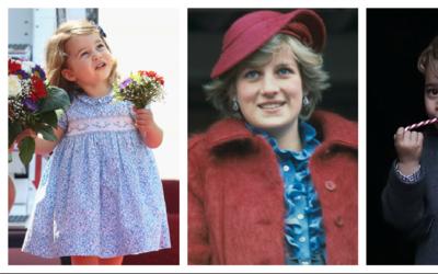 La Princesa Diana y sus nietos, el Príncipe George y la Princesa...