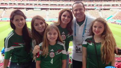 Encuentro presidencial de Alan con la primera dama de México, Angélica R...