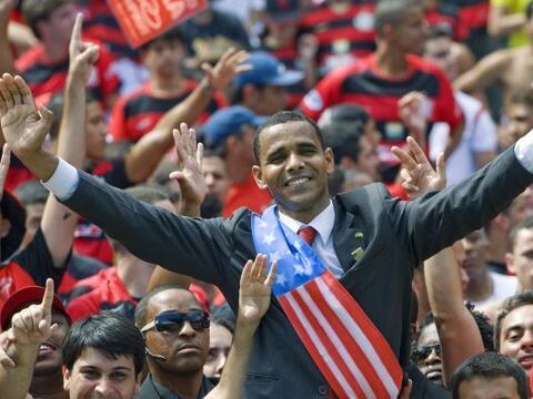 En su visita a Brasil el presidente de Estados Unidos, Barrack Obama, se...
