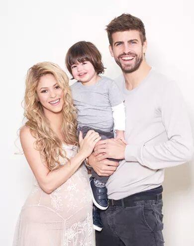 Pero en esta ocasión lo hacen junto a Milan, su primer hijo.