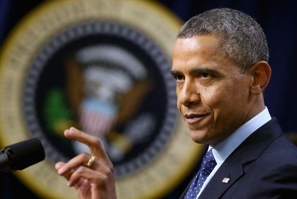 El mandatario estadounidense, Barack Obama, bajó al segundo escaño en la...