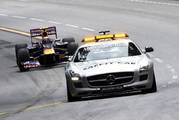 El auto de seguridad de la Fórmula 1 tuvo una jornada activa por la gran...