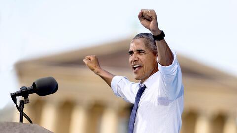 El presidente Obama hace campaña por Hillary Clinton en Filadelfi...