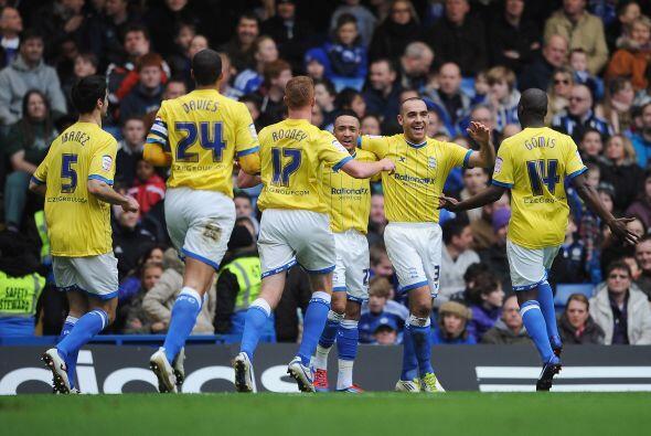 Birmingham festejaba ante un Chelsea sin reacción.