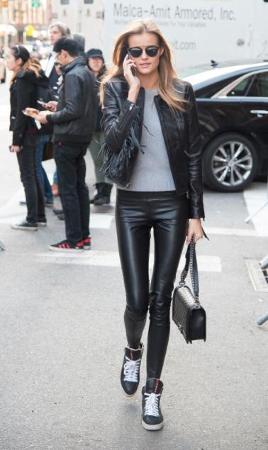 Kendall antes del desfile de Victoria's Secret