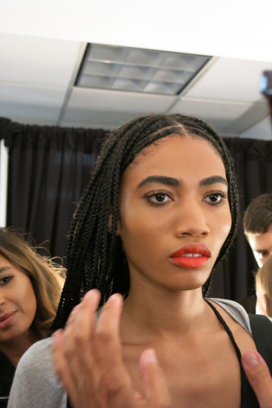 Las pelucas y el maquillaje del desfile de Georgine en NYFW IMG_4233.jpg