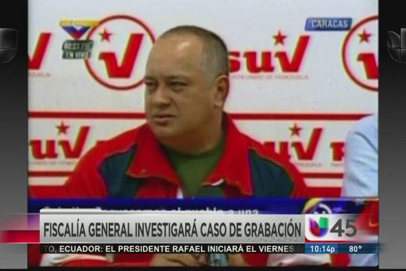 Una escandalosa grabación fue develada por la oposición venezolana esta...