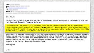 Una funcionaria de Appleby explicó en un mensaje, por qué la firma no po...