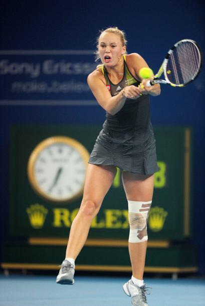 Una hora y 53 minutos duró el juego impuesto por Wozniacki.