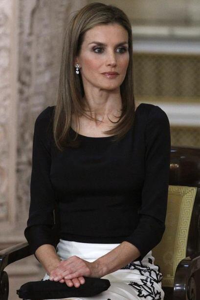 La Princesa de Asturias, Letizia, durante el acto en el que el  rey   Ju...