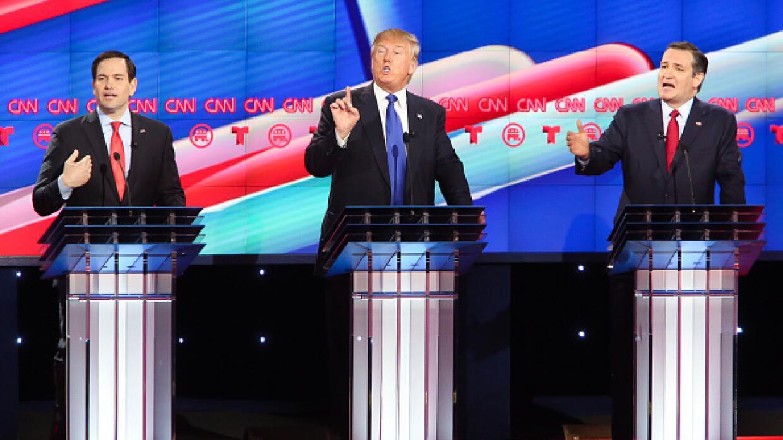 Trump quedó a fuego cruzado de Rubio y Cruz