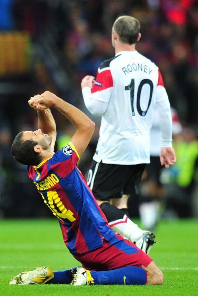 El grito de Javier Mascherano y la tristeza de Rooney.