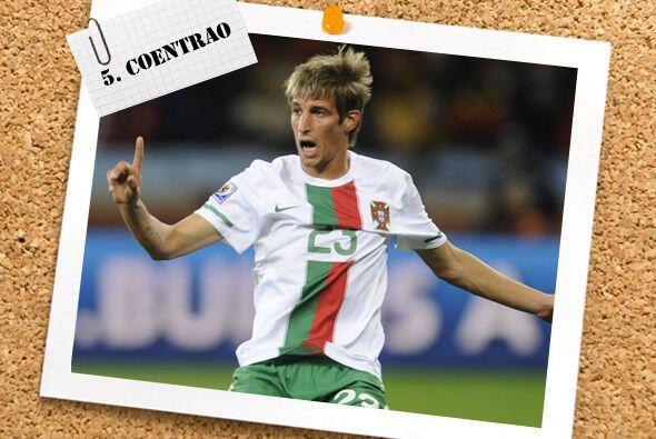 Fabio Coentrao fue de lo mejor de la defensiva portuguesa en su choque c...