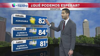 Ventana al Tiempo: ¿Cómo estarán las temperaturas este fin de semana en Houston?