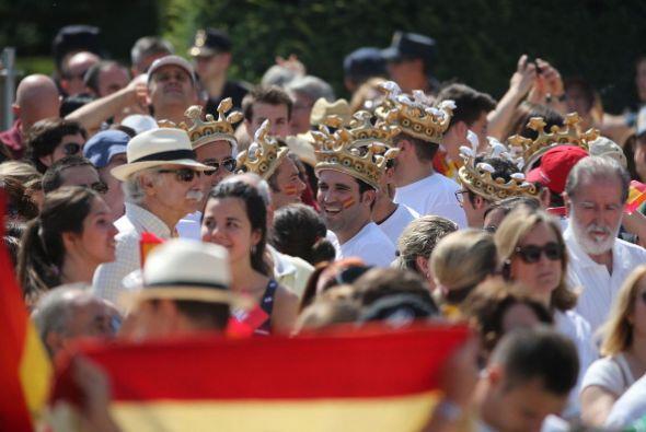 Donde los reyes presidieron una recepción con más de 2,000...