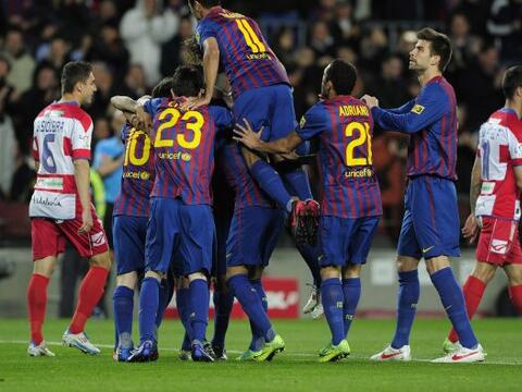 El conjunto 'culé' le ganó al Granada 5 a 3 en un partido...