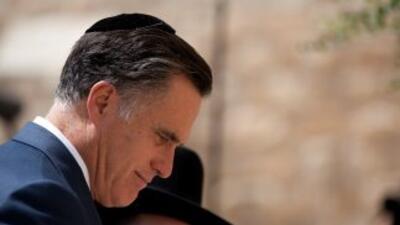 El virtual candidato presidencial republicano, Mitt Romney, visita el Mu...