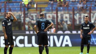 Los interistas fueron exhibidos por el Cagliari.